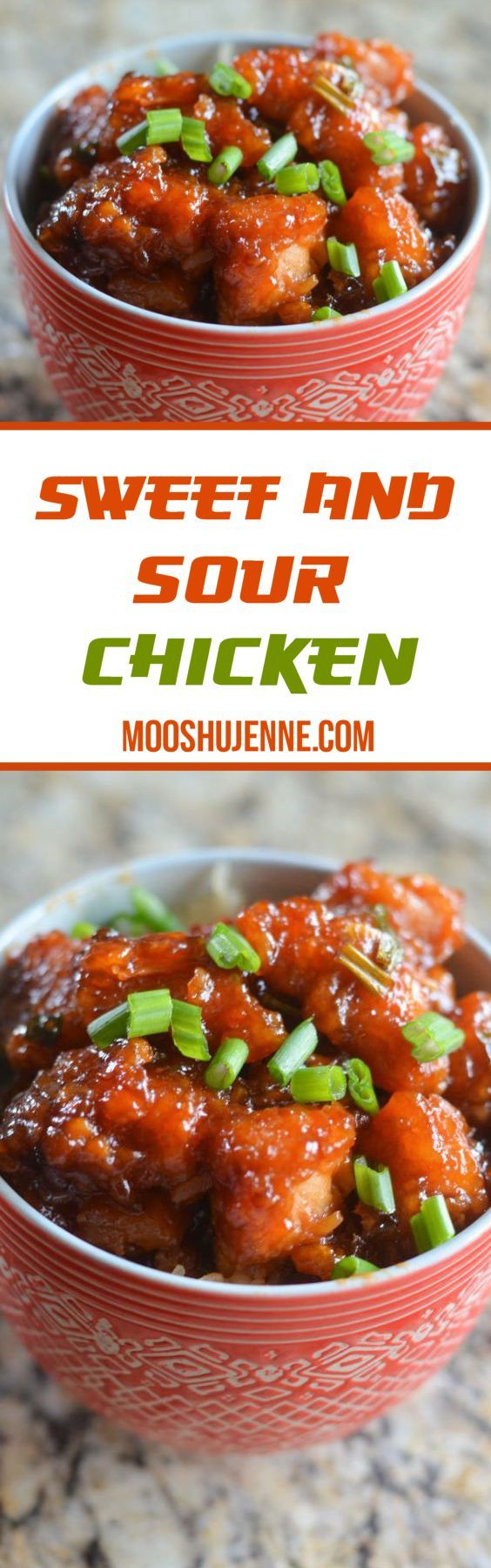 Chicken fried and tossed in a sweet and sour sauce scooped over rice and topped…