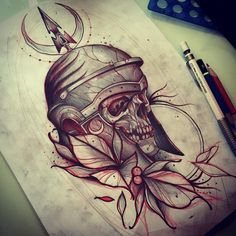 Sketching for this week in OPorto Tattoo Expo 2016 #sketching #drawing #art #skull