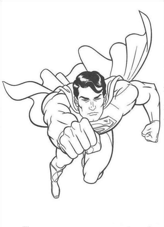 Coloring Pages Of Superman From Superman Coloring Pages On This