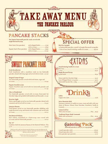 "The menu I ""stole"" at The Pancake Parlour, Bourke Street"