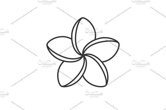 Spa Salon Plumeria Flower Linear Icon Flower Tattoo Drawings Plumeria Tattoo Flower Icons