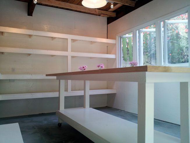 Flower Shop Interior -work table