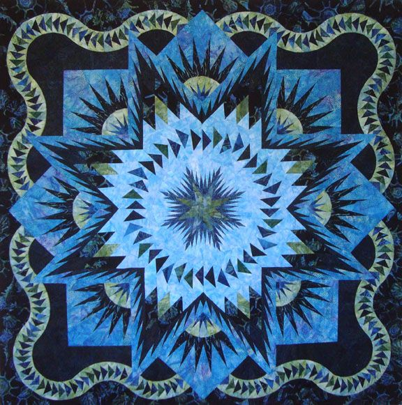Glacier Star by Judy Niemeyer - This will be my next paper piecing quilt, maybe in 2013 - in grays, light blues and some purples.