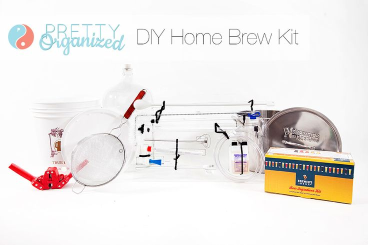 Home-Brewing: DIY organizer for brewing beer at home! #diy #beer #organize