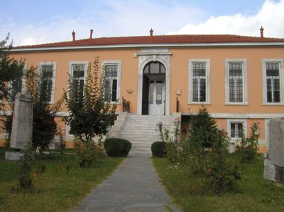 Panarcadic Archaeological Museum of Tripolis, a neoclassical building designed by Tsiler