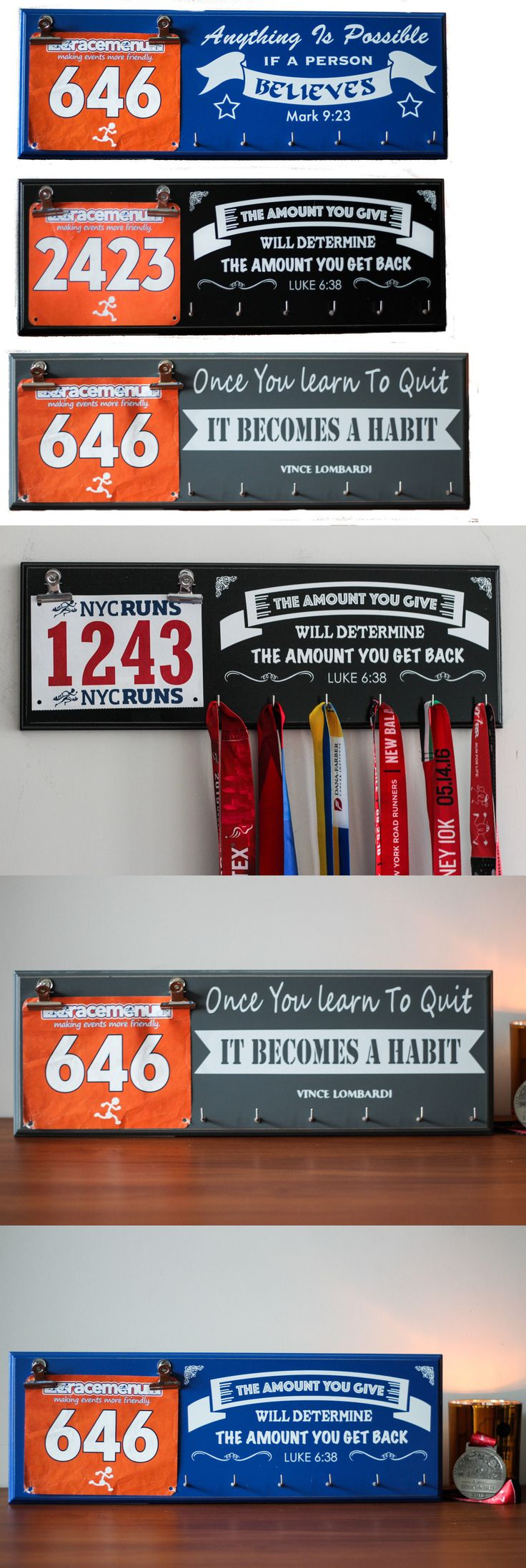 Other Fitness Clothing 158920: Gift For Runners - Running Medal Display Hanger Plaque - Multiple Designs -> BUY IT NOW ONLY: $31.99 on eBay!