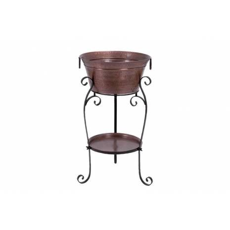 Copper Hammered Metal Wine Cooler Stand