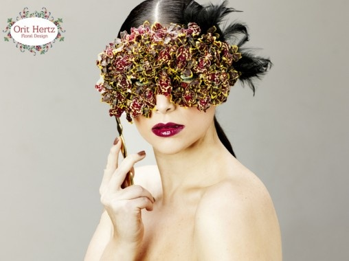 A floral fashion design mask Floral Design & styling - Orit Hertz Photographer - Shay Kedem Makeup - Orit Visel Hair - Umai Shitrit