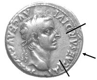 "In Luke 20:23-25 Jesus requested a coin and then asked the crowd, ""Whose image and inscription are on it?"" They replied that it was ""Caesar's."" Several types of coins were in circulation at that time that showed an image of Caesar, with the one displayed here being a typical example. It contains the image of Tiberius Caesar who reigned 14-37 AD, the time of the ministry of Christ."