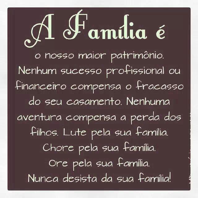Ame a sua família!!! ❤❤❤