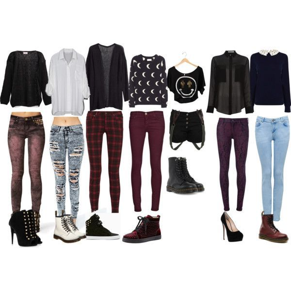 """""""a grunge / casual outfit"""" by rinaki-giounes on Polyvore:"""