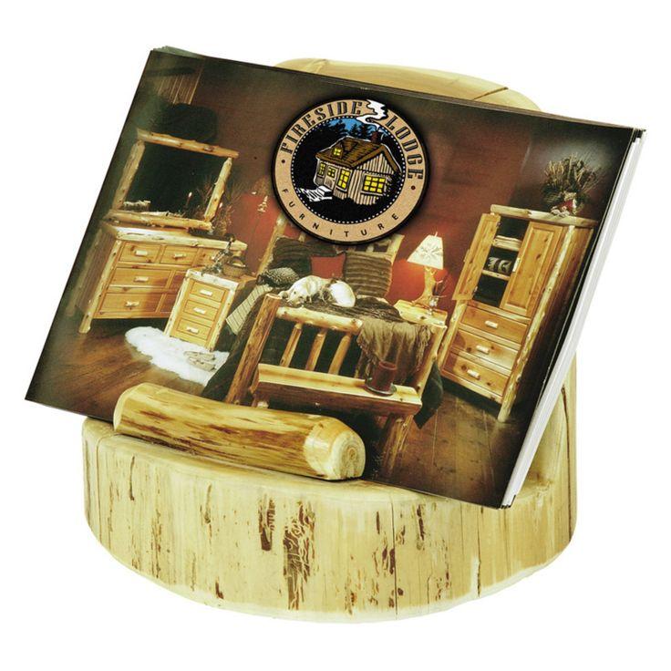 Fireside Lodge Cedar Brochure Holder - 19189