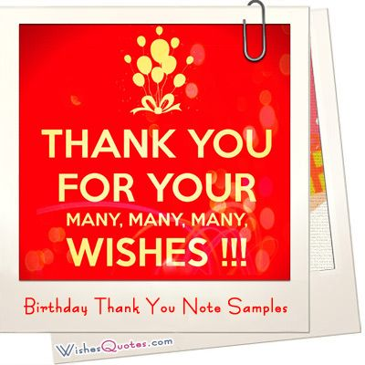 Birthday Thank You Note Samples