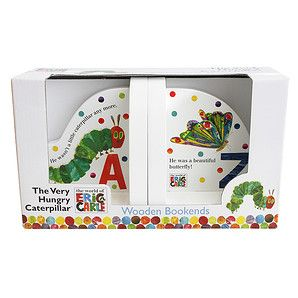 The Very Hungry Caterpillar Wooden Bookends