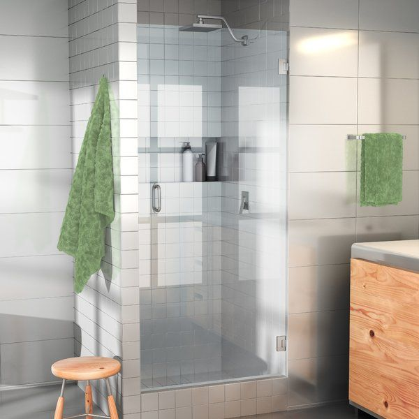 25 X 78 Hinged Frameless Shower Door Shower Doors Tub Doors Bathtub Doors