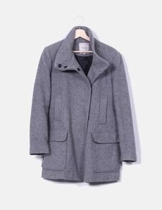 Abrigo gris Zara