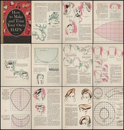 How to Make 1940s WWII Hats - 97 page PDF