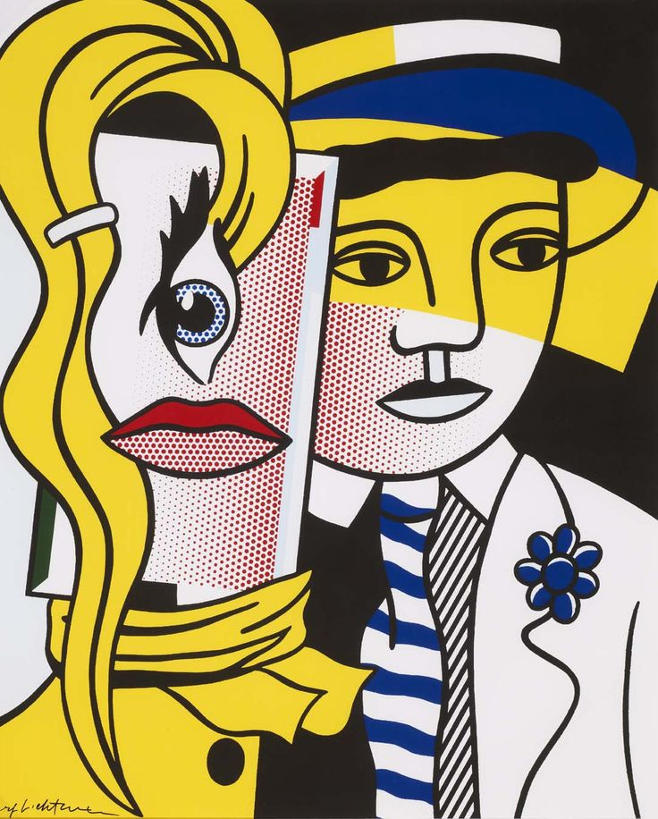 "Roy Lichtenstein's ""Stepping Out"", 1986  NYC Office Suites, 1-800-346-3968 sales@nycofficesuites.com www.nycofficesuites.com #art"
