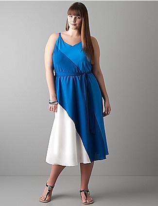Plus size dress: Colors Patterns, Summer Wedding, Sleeveless Dresses, Colorblock Dresses, Diagon Colors, Blue Summer Dresses, Diagon Colorblock, Colors Blocks, Lane Bryant