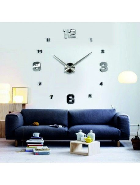 Mirror clock on the wall - SILVER Reference:  12S005-SILVER-S** Condition:  New product  Availability:  In Stock  Choose a color by yourself! The time has come much more cozy realít new clock. 3D large wall clock is a beautiful decoration of your interior. You'll never be late.