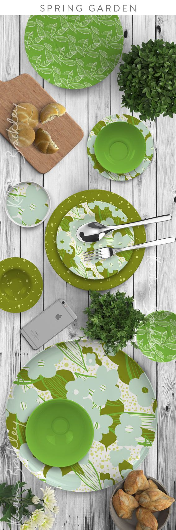 Tabletop concepts in my Spring Garden collection