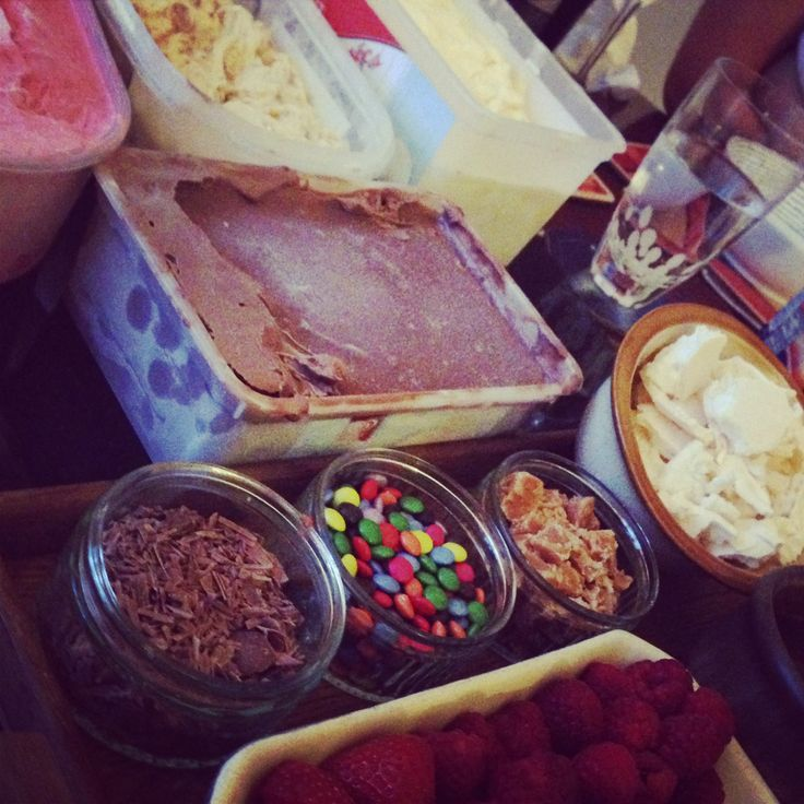 Ice cream party with All Butter Fudge topping