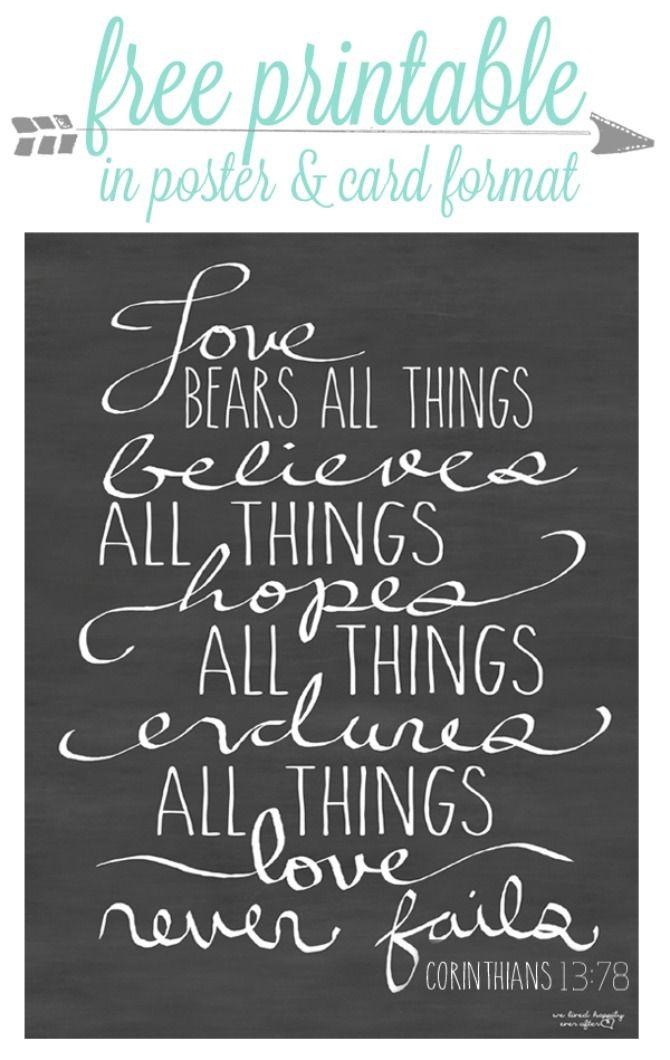 Free Love printable quote