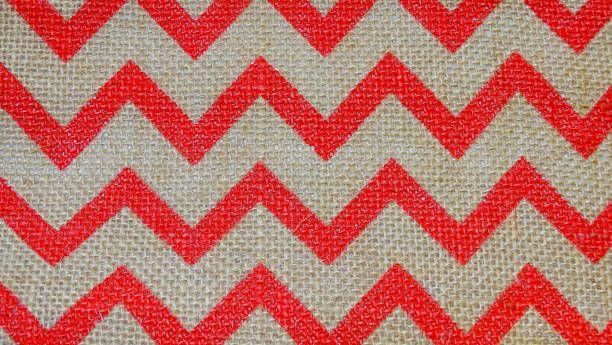 red chevron burlap stripe background