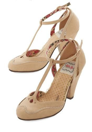 Classic Confection Heels in Tan by Tatyana/Bettie Page