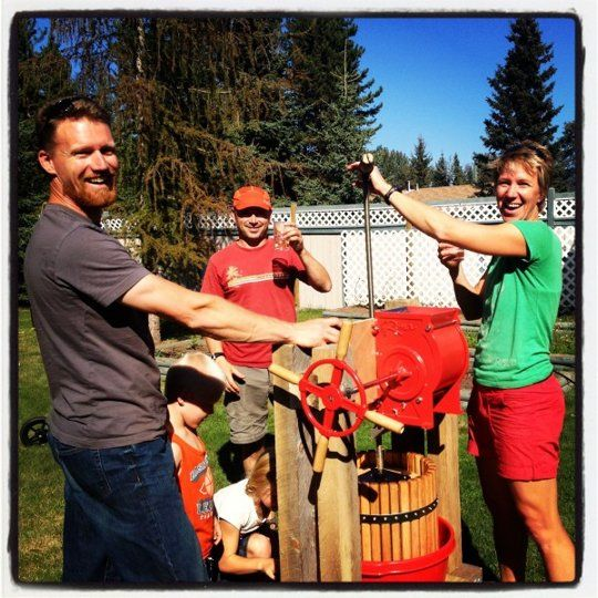Making Apple Cider at Home with a Homemade Apple Press