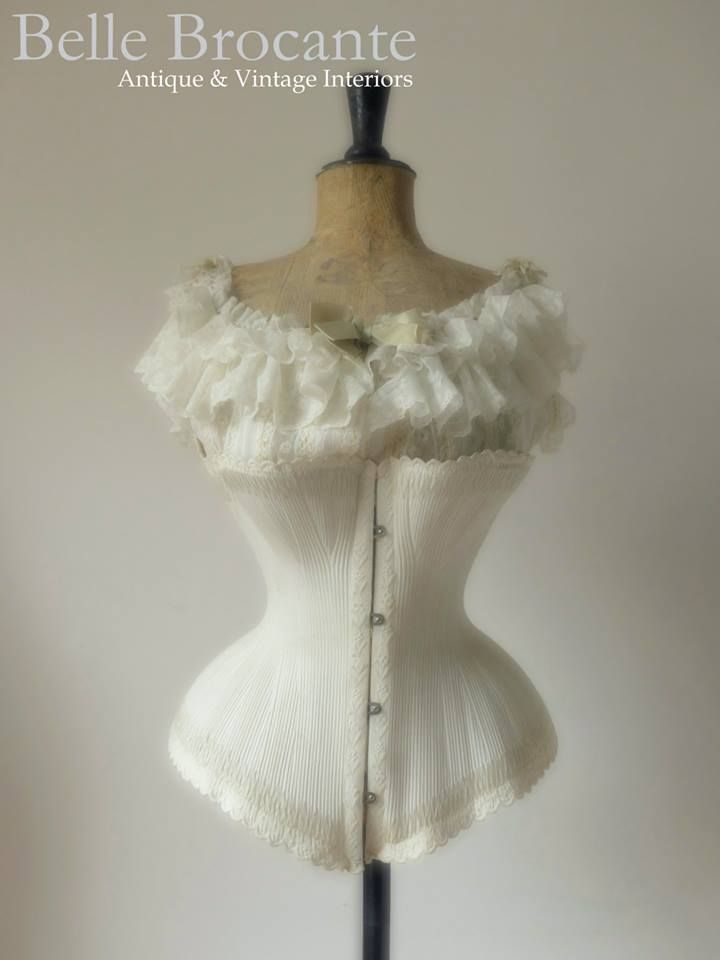 White pearl bust dress form