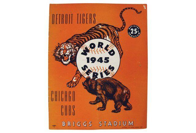 1945 World Series Tigers & Cubs Program