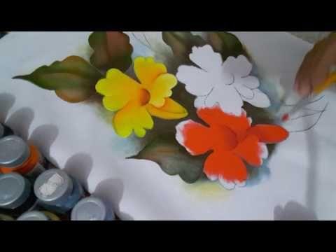 pintando flores part 2 - YouTube