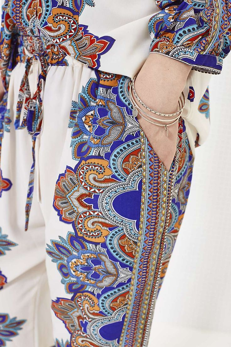 Cadence Paisley Border Print Relaxed Fit Joggers alternative image