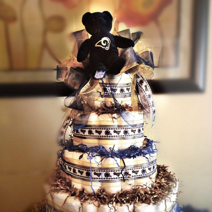 stlouis rams diaper cake