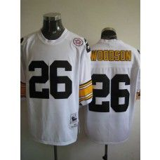 Mitchell And Ness Steelers #26 Rod Woodson White Stitched Throwback NFL Jersey