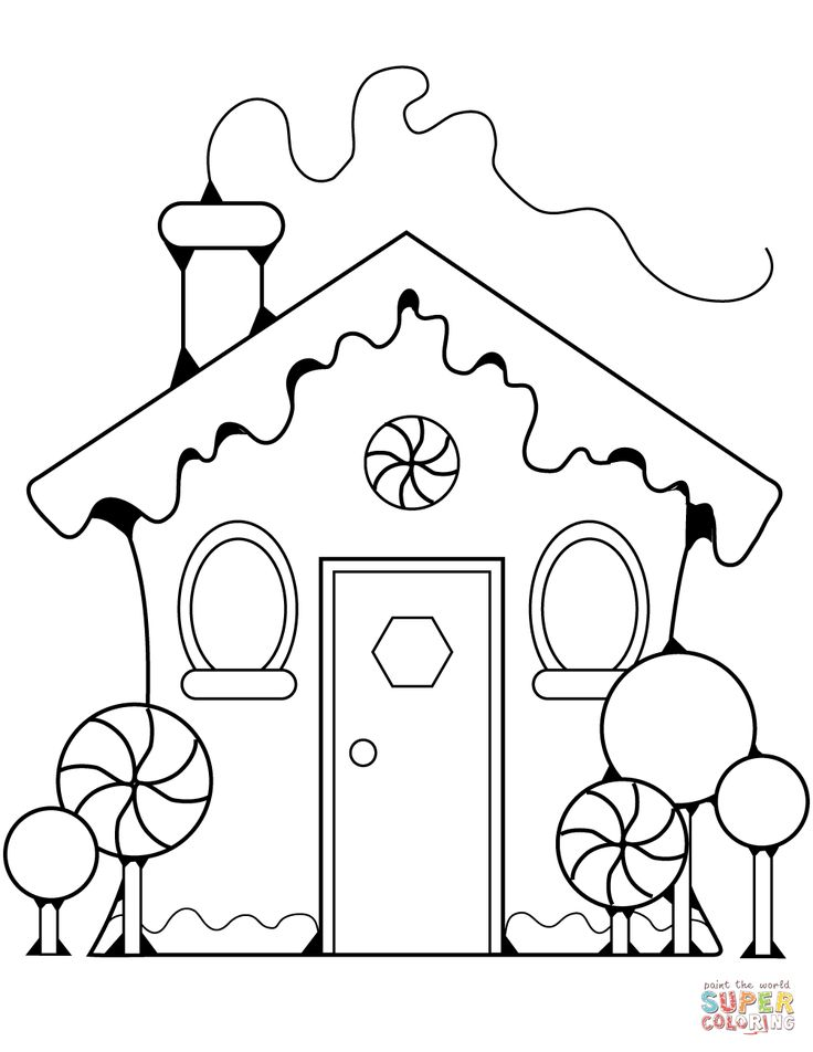 Gingerbread House | Super Coloring | Printable christmas ...