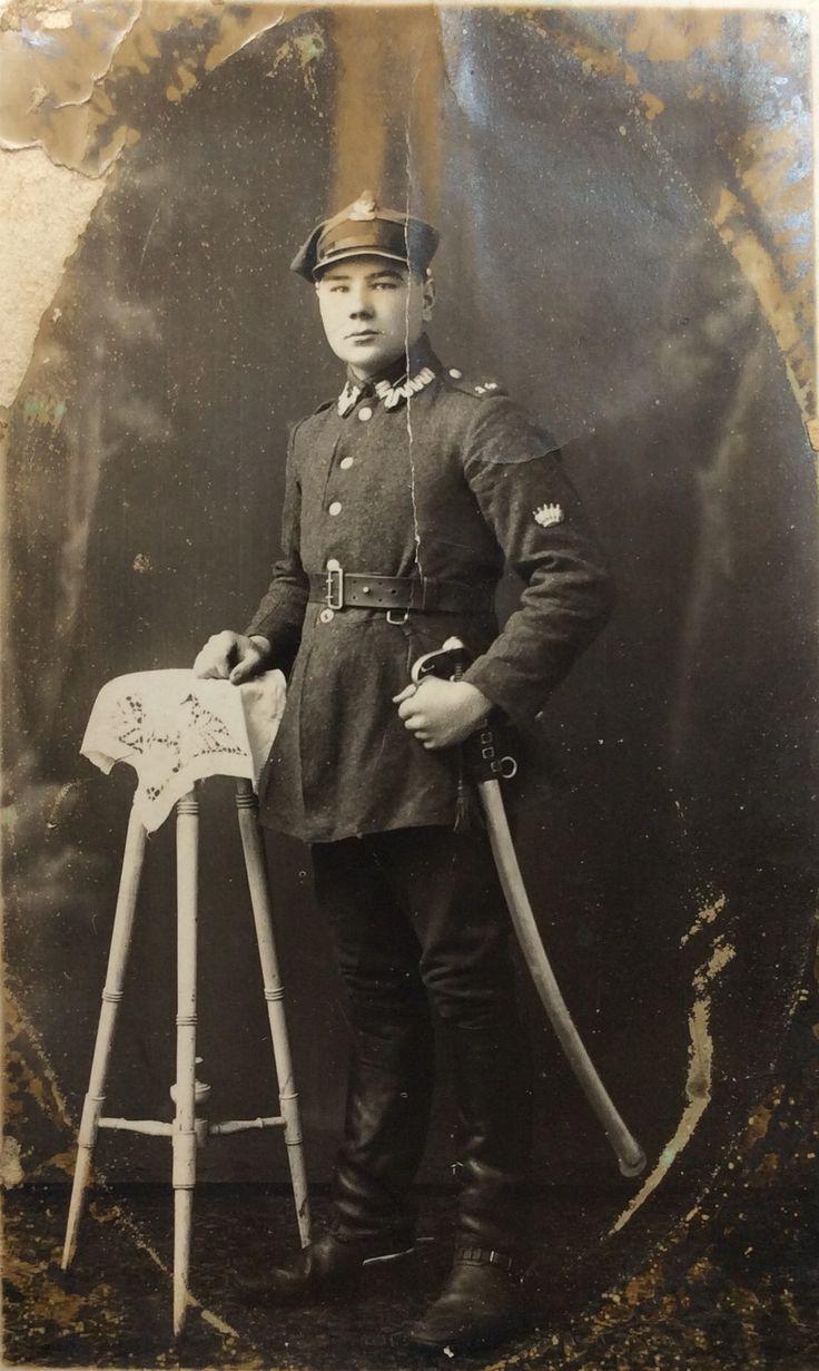 Jan Rajs - kawalerzysta (Zakład Fotograficzny R. Feilerówna). Zdjęcia użyczył Władysław Rajs.
