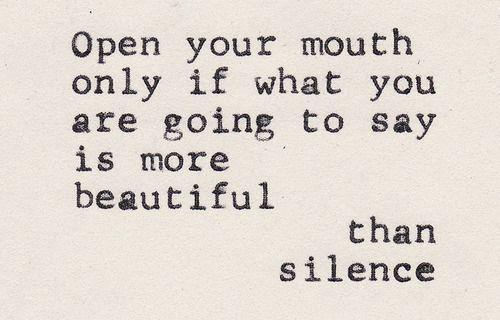 Silencio !