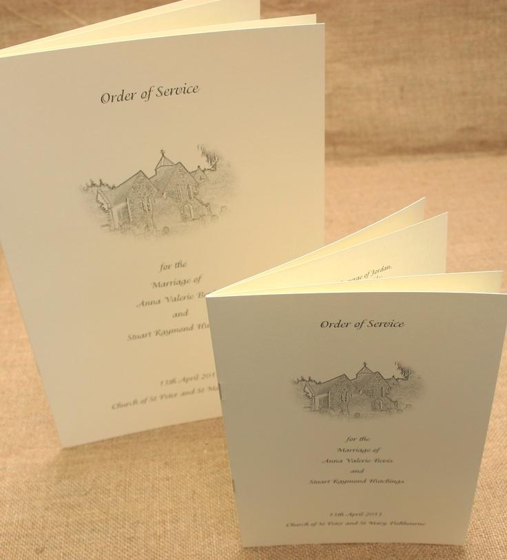 Anna Bevis Stuart Hutchins Wedding Stationery Cream Ivory Traditional Order Of Service Sheet Church Bespoke 6