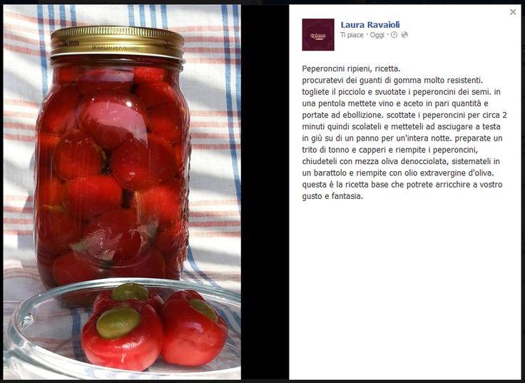 Peperoncini ripieni sott'olio di Laura Ravaioli