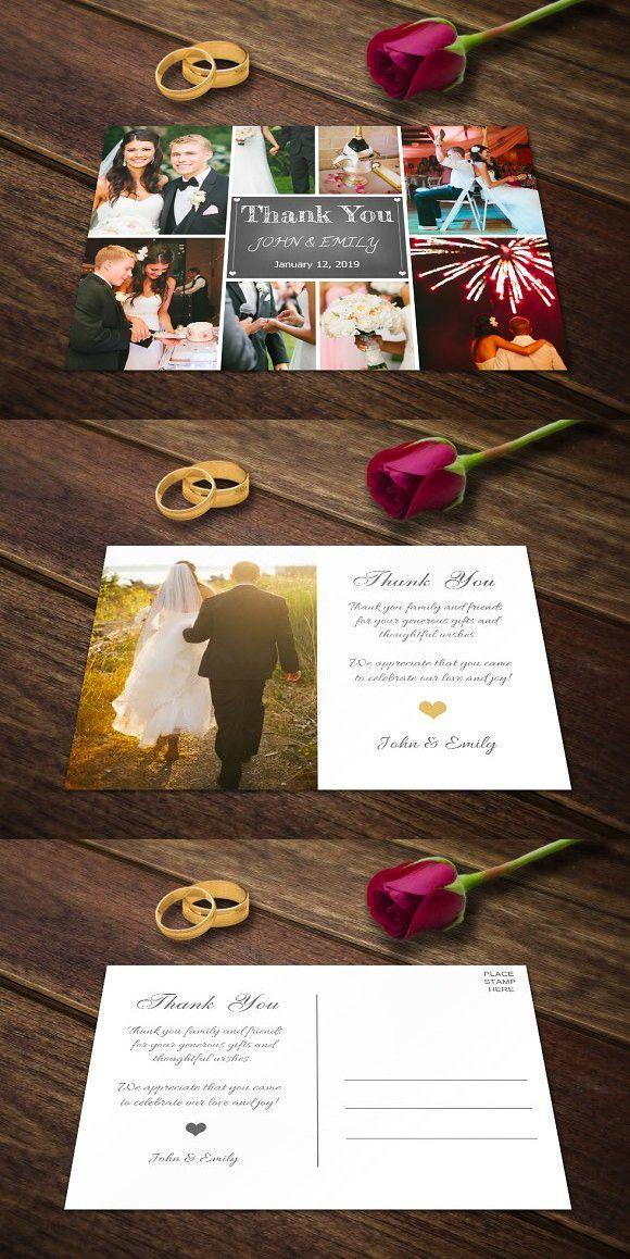wedding invitation design psd%0A Wedding Thank You Card Template PSD