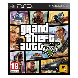 La Source: Grand Theft Auto V: $59.99 Description:  Le plus récent jeu de la célèbre franchise, Grand Theft Auto V pour PS3 promet un monde profond, splendide et immersif rempli de voitures rapides et de décisions instantanées. La gigantesque ville de Los Santos est le plus grand des mondes ouverts de GTA à ce jour, mais la superbe narration et le jeu stimulant qui a rendu cette série si populaire sont toujours présents.