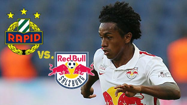 El Red Bull Salzburgo de Yordy Reyna tiene la gran chance de acercarse al líder de la Bundesliga de Austria. Este domingo desde las 9:30, chocan ante el Rapid Viena, dueño del primer lugar en la tabla. Octubre 04, 2015.