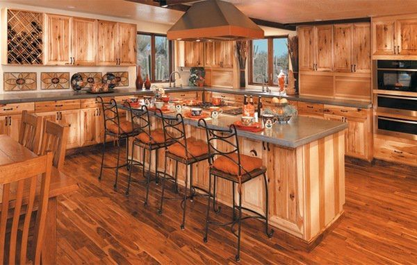 rustic kitchen islands with seating spectacular hickory kitchen cabinets rustic kitchen ideas 25606