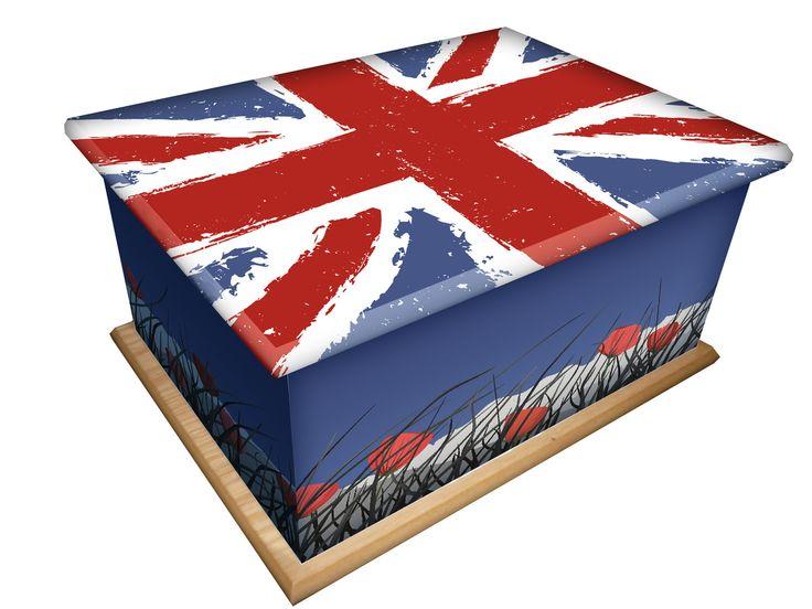 Union jack casket
