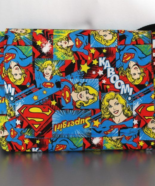 #Supergirl fabric - messenger bag