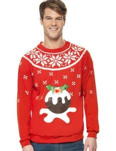 Christmas: Men's Christmas Pudding Jumper Costume great for Christmas Day