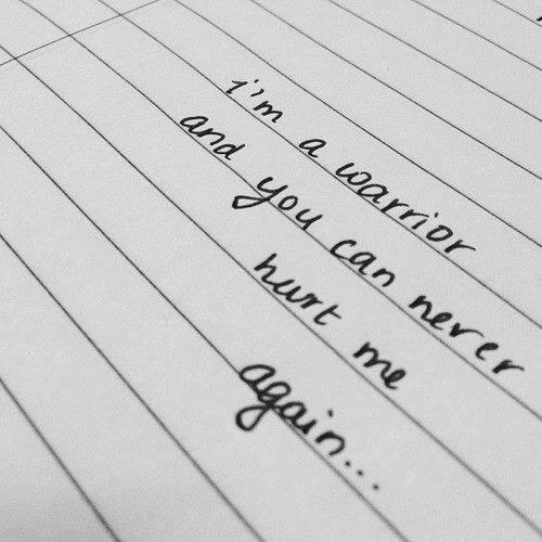 I'm A Warrior. -Demi Lovato