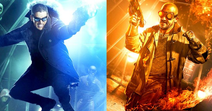 The Flash Captain Cold & Heat Wave Fight Club Posters